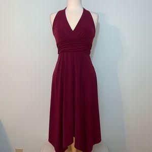 Beautiful burgundy halter dress